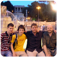Patrick Barry with friends in Rome
